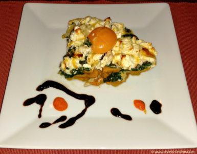 Süßkartoffel-Spinat-Quiche